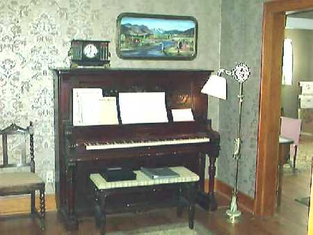 the organ in the living room
