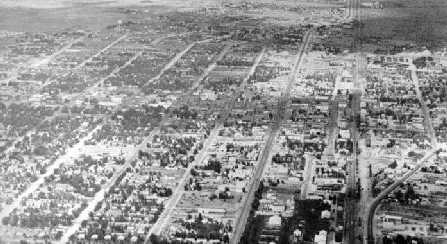 Aerial view in 1950