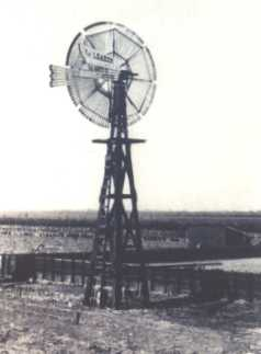 Original photograph of an early day windmill of West Texas